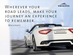 Wherever your road leads, make your journey an experience to remember. Maserati