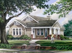 Craftsman Style House Plan - 3 Beds 2 Baths 1628 Sq/Ft Plan #137-267