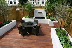 Comment aménager un petit jardin? - amenagement-petit-jardin-minimaliste-pots-grands