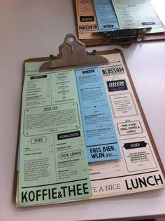 Café blossem menu.