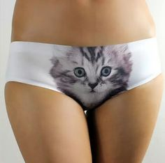 44d88eac7c12 Frogwill Smooth Traceless Lingerie Sexy Cat Printed Hipsters Antiexposure  Panty L >>> Visit the image link more details.
