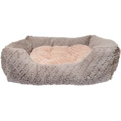 Rosewood Fabric Reversible Cushion Square Plush Dog Bed, 18-Inch,... (€16) ❤ liked on Polyvore featuring pet