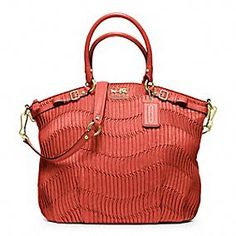 MADISON GATHERED LEATHER LINDSEY SATCHEL BY COACH
