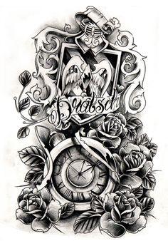 Commission - crest and clock by WillemXSM.deviantart.com on @deviantART
