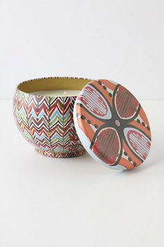 Tapestry Bubble Candle Tin #anthropologie