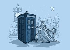 Come Away with Me T-Shirt $11 Cinderella meets Doctor Who tee at TeeFury today only!