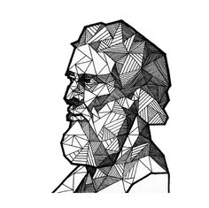 Geometric portrait of plato by allison kunath / ink on paper drawing, art Art Therapy Projects, Art Projects, Art Sketches, Art Drawings, Geometric Lines, Geometric Face, Geometric Drawing, Vegas Tattoo, Graffiti