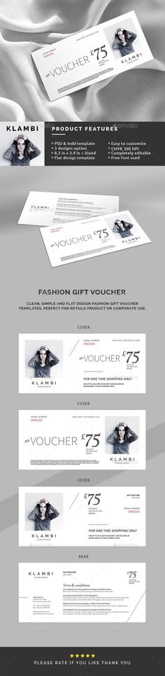 Fashion Gift Voucher Template - Loyalty Cards Cards & Invites