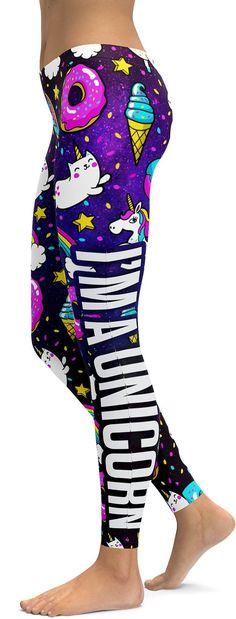 I'm not weird, I'm a Unicorn Leggings - GearBunch Leggings / Yoga Pants Unicorn Leggings, Unicorn Outfit, Unicorn Clothes, I Am A Unicorn, Rainbow Unicorn, Teen Fashion Outfits, Cool Outfits, Womens Fashion, Weird Outfits