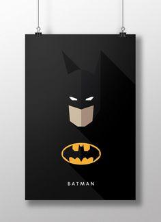 Flat Design e personagens da cultura pop nos pôsteres de Moritz Adam Schmitt Flat Design Poster, Typographie Inspiration, Web Design, Design Trends, Pixel Design, Logo Design, Batman Universe, Batman The Dark Knight, Design Graphique
