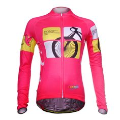 Uriah Women's Cycling Jersey Long Sleeve Thermal Fleece Racing Pink Size XXL(CN). Size Notice: This is not standard US Size, size may run smaller than US size, please check the size chart on the product image and product description before placing the order; If you're not sure about the size, please feel free to contact us (Unit Conversion: 1Inch = 2.54cm; 1lb = 0.454kg). Sun Protection Thermal Fabric: 100% polyester with fleece inner; Keep you warm and have good moisture wicking...