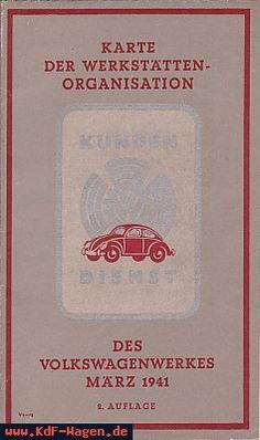 VW - 1941 - Karte der Werkstättenorganisation - März 1941, 2. Auflage - [6707]-1