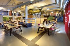 Youth Republic Office By KONTRA Creative Office Space, Office Space Design, Office  Designs,