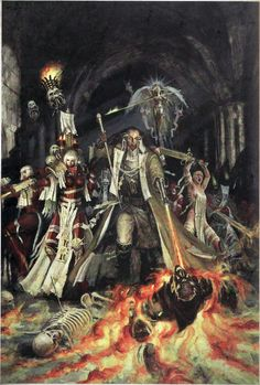 Ordo Hereticus: Left Adepta Sororitas/Right Swordmaiden/Witchhunter