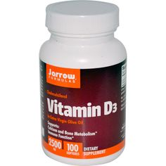 Jarrow Formulas, Vitamin D3, 2500 IU, 100 Softgels cheap at $7 good   size for a daily winter dose.