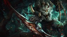 Download Rengar Splash Art League of Legends 1366x768