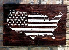 Custom Pallet Sign, Reclaimed Wood, Pallet Sign, Reclaimed Pallet Sign, USA Flag, USA sign, United States Map Sign, Stars & Stripes
