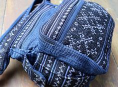 Indigo Blue Ethnic Hmong Embroidery and by SiameseDreamDesign