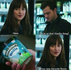 Fifty Shades Darker the movie I laugh every time someone says vanilla or see it because of these scene. Fifty Shades Quotes, Fifty Shades Series, Shades Of Grey Movie, Fifty Shades Movie, Fifty Shades Darker, Grey Quotes, Grey Anatomy Quotes, Jamie Dornan, 50 Shades Trilogy