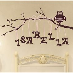 I love this idea for a baby or a toddler room