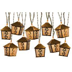 Gemmy Ft Brown Mini Bulb Bamboo Lantern String Lightshttp