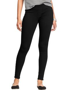 Women's Pull-On Black Jeggings Product Image