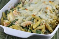 That's why this seafood pasta casserole is one of the best. Called Shrimp Penne Casserole, it combines penne and medium shrimp with fresh spinach and a creamy, homemade sauce (don't worry, it's easy). Shrimp Casserole, Seafood Casserole Recipes, Penne Pasta Recipes, Seafood Recipes, Cooking Recipes, Healthy Recipes, Spinach Casserole, Recipe Pasta, Noodle Casserole