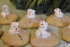Kekse mit Schneemännnern - Schneemannkekse backen
