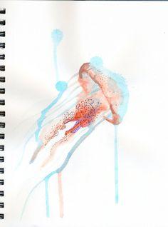 Watercolor Jellyfish by *cnigrelli185 on deviantART