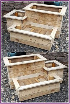 Original DIY ideas for Recycling wood pallet planters ideas for planters # . - UPCYCLING IDEAS - Original DIY ideas for Recycling wood pallet planters ideas for planters # …, pallets - Wood Pallet Planters, Reclaimed Wood Projects, Diy Pallet Projects, Wooden Pallets, Pallet Wood, Fall Wood Projects, Garden Pallet, Wooden Garden Planters, Diy With Pallets