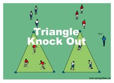 http://www.top-soccer-drills.com/triangle-knock-out.html #Practice #Dribbling…