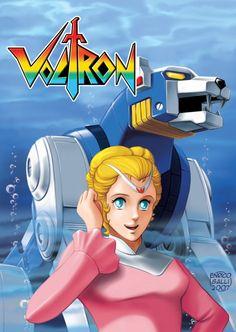 Voltron Princess Allura and Blue lion
