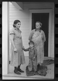 Mrs. Theodore F. Frank, wife of a formerly prosperous farm owner. The farm is now owned by a loan company and the family is left with very little resources. Lee, Russell, 1903-1986, photographer