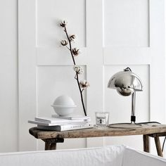 credit: whitelivingetc | MAISONS BLANCHES | Bloglovin' Silver Blonde, Wall Treatments, Decorative Objects, Interior Decorating, Black And White, Living Room, Ideas, Inspiration, Home Decor