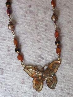 Matinee Length 21 1/2 Copper Butterfly Necklace by CEOriginals  https://www.etsy.com/listing/209718963/matinee-length-21-12-copper-butterfly?ref=listing-shop-header-3