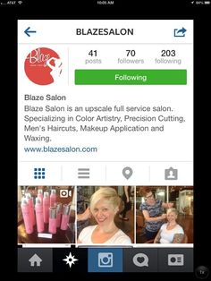 Check us out on Instagram! #BlazeSalon #Instagram #Photos #Hair #Hairstyles #Haircuts #Haircolor #Updos #Bridalupdos #Bridalmakeup
