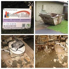 Building Works Australia team started an ensuite renovation strip out today at West Pennant Hills. Always a bit messy but plenty of drop sheets down to protect our clients home. Oh! Did I mention it hasn't stopped raining☔️ #ensuiterenovation #sitesign #skipbin #localbuilder #sydneybuilder #renovation #demolition #messy #dropsheet #westpennanthills #dural #rain #project #pictures #projectmanager www.buildingworksaust.com.au @buildingworksau #newsbuildingworksaust