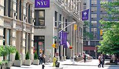 NYU, Washington Square East and 4th Street looking south