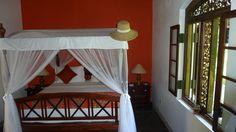 Chambre orange de la villa Sepalika