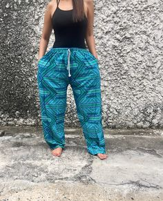 boho Aztec pattern pants Summer beach Soft fabric Yoga Baggy