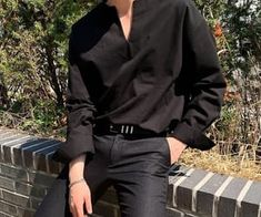 Korean Outfits, Trendy Outfits, Cool Outfits, Fashion Outfits, Korean Fashion Men, Korean Street Fashion, Mens Clothing Styles, Aesthetic Clothes, Street Wear