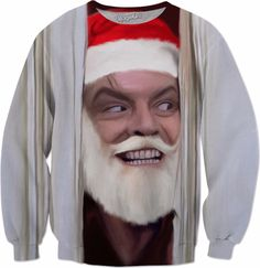 Whether you're at a company party or trapped in a haunted hotel, this Heeere's Santa Crewneck Sweatshirt is sure to be a hit this holiday season. Get yours toda