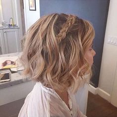 30 Best Dance Hairstyles For Short Hair Exemple like thin dance hairstyles for short hair exemple. Thin hair can easily dance hairstyles for short hair exemple Bob Braids, Short Hair Updo, Short Wedding Hair, Braids For Short Hair, Short Hair Cuts, Short Hair Styles, Bridesmaid Hair Short Bob, Hairstyles For Short Hair Formal, Bob Hair Updo