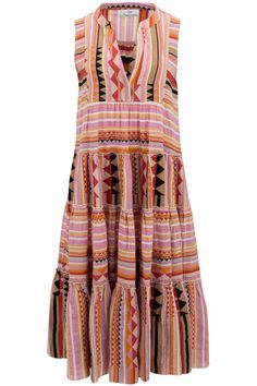 Devotion Damen Maxikleid ohne Arm Rosa/Orange | SAILERstyle Greek Design, Orange, Tie Dye Skirt, Indigo, Twins, Contemporary, Modern, Summer Dresses, Arm