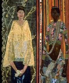 Philippines Filipina: A racial identity crisis 1990 250 x 160 cm Acrylic, handwoven cloth, dyed yarn, beads, gold thread on stitched and padded canvas (Pacita Abad) Filipino Art, Filipino Culture, Asian Sculptures, Philippine Art, Social Realism, Filipina, New Artists, Asian Art, Cover Photos