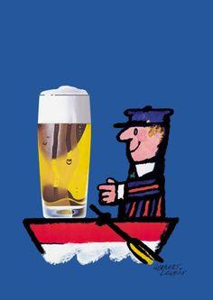 German beer advertising poster from 1960s//FEB16