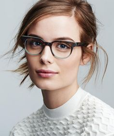 Warby Parker eyeglasses   Trendy frames + artfully disheveled hair