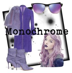 """Violet Monochrome"" by tina2-1 ❤ liked on Polyvore featuring Jitrois, Marc Jacobs, Aperlaï and Ray-Ban"