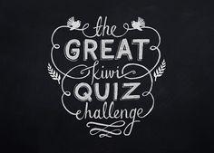 The Great Kiwi Quiz Challenge typography by Knucklebones Design Co.