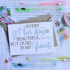 Shop for inspirational quote on Etsy, the place to express your creativity through the buying and selling of handmade and vintage goods. Purchase Card, Sorry Cards, Always Kiss Me Goodnight, Teacher Thank You, Studio Logo, Thanksgiving Cards, Kraft Envelopes, True Friends, Anniversary Cards